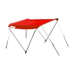 ALEKO® BSTENT320R Summer Canopy Boat Tent  Sunshade Shelter for Inflatable Boats, Red Color