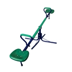 Outdoor Sturdy Child Play Set with 360-Degree Seesaw - Green and Blue - ALEKO
