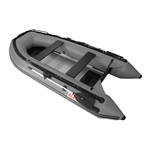 Inflatable Boat with Aluminum Floor - BT320 - 10.5 ft - Gray - ALEKO