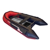 Inflatable Boat with Aluminum Floor - BT320 - 10.5 ft - Red and Black - ALEKO