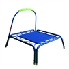 ALEKO BT32BLUE Mini Square Kids Trampoline with Safety Handle, Blue