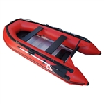 Inflatable Boat with Aluminum Floor - BT380 - 12.5 ft - Red - ALEKO