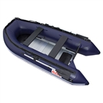 Inflatable Boat with Aluminum Floor - BT380 - 12.5 ft - Blue - ALEKO