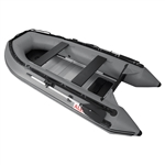 Inflatable Boat with Aluminum Floor - BT380 - 12.5 ft - Gray - ALEKO