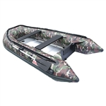 ALEKO® BT380CM Inflatable Fishing Camouflage 6 Person Motor Boat 12.5 Feet with Aluminum Floor and Splash Guard