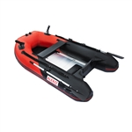 ALEKO® BTF250RBK PRO Fishing Boat 8.4 Feet (2.6 m) with Aluminum Floor 3 Person Inflatable Boat with Fishing Rod and Front Board Holders, Red and Black