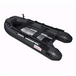 ALEKO® BTF320BK PRO Fishing Boat 10.5 Feet (3.2 m) with Aluminum Floor 4 Person Inflatable Boat with Fishing Rod and Front Board Holders, Black