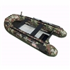 ALEKO® BTF320CM PRO Fishing Boat 10.5 Feet (3.2 m) with Aluminum Floor 4 Person Inflatable Boat with Fishing Rod and Front Board Holders, Camouflage