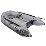 Inflatable Air Floor Sport Boat - 8.4 Foot - Gray - ALEKO