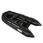 Inflatable Sport Boat with Wood Floor - 10.5 Feet - Black - ALEKO