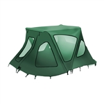 ALEKO® BWTENT320G Winter Waterproof Canopy Boat Tent Covering for Inflatable Boat, Green