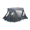 ALEKO® BWTENT380G Winter Waterproof Canopy Boat Tent Covering for Inflatable Boat, Gray