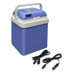 CARFR24BL Portable Car Fridge Travel Cooler Warmer 12V 24 Liter Capacity, Light Blue Color