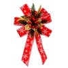 Large Statement Holiday Bow Christmas Swag for Wall - Red and Gold - ALEKO