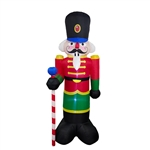 Giant Inflatable Nutcracker with UL Certified Blower and LED Lights - 8 Foot - ALEKO