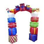Giant Inflatable Gift Stacked Archway with UL Certified Blower and LED Lights - 8 Foot - ALEKO