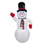 Giant Inflatable LED Snowman for Yard - 8 Foot - ALEKO