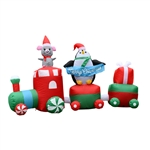 Inflatable LED Merry Christmas Choo Choo Train - 7 Foot - ALEKO