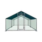 Metal DIY Walk-in Chicken Coop or Chicken Run with Blue Waterproof Cover - 13 x 10 Feet - ALEKO