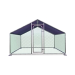 Metal DIY Walk-in Chicken Coop/Chicken Run with Purple Waterproof Cover - 10 x 6.5 Feet - ALEKO
