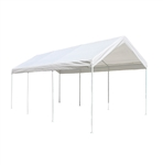 ALEKO Heavy Duty White Polyethylene Carport with Steel Frame