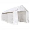 ALEKO Heavy Duty Outdoor Canopy Carport Tent - 10 X 20 FT - White