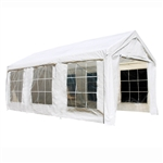 ALEKO Canopy Tent with Sidewalls and Windows - 10 X 20 FT - White