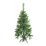 ALEKO® CT48H50MC Artificial Indoor Christmas Holiday Tree 4 Feet (1.2 m) with Multicolored 50 LED Lights, Green Color