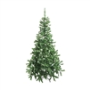 ALEKO® CT59H11 Luscious 5 Foot (1.5 m) Artificial Christmas Holiday Tree With White Tips and Snow Covered Pine Cones