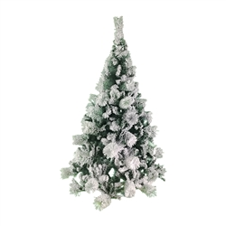 Snow Dusted Artificial Holiday Christmas Tree - 5 Foot - ALEKO
