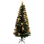 Artificial Indoor Christmas Holiday Optics Tree with Warm LED Bows - 6 Foot - ALEKO