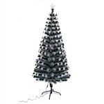 Artificial Indoor Christmas Holiday Optics Tree with Multi-Colored LED Lights - 6 Foot - ALEKO