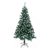 Snow Dusted Artificial Indoor Christmas Holiday Tree - 6 Foot - with Pine Cones - ALEKO
