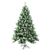 Snow Dusted Artificial Indoor Christmas Holiday Tree with Pine Cones - 8 Foot  - ALEKO