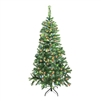 ALEKO® CTLG84H250MC Luscious 7.5 Feet (2.3 m) Artificial Christmas Tree With Multicolored LED Lights, Light Green Color