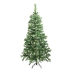 ALEKO® CTLG84H250WH Luscious 7.5 Feet (2.3 m) Artificial Christmas Tree With Soft White LED Lights, Light Green Color