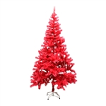 Artificial Holiday Tree - 6 Foot - Pink - ALEKO