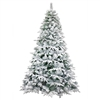 Deluxe Artificial Indoor Christmas Holiday Tree - 5 Foot - Snow Dusted - ALEKO