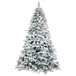 Deluxe Artificial Indoor Christmas Holiday Tree - 7 Foot - Snow Dusted - ALEKO