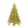 Artificial Indoor Christmas Holiday Tree - 5 Foot - Gold Glitter - ALEKO