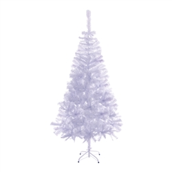 ALEKO® CTW71H13 Luscious Artificial Indoor 6 Feet (1.8 m) CTW71H13 Luscious Artificial Indoor 6 Feet (1.8 m) Christmas Holiday Pine Tree, White Color Color
