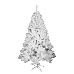 Snow Washed Artificial Indoor Christmas Holiday Tree - 8 Foot - White - ALEKO