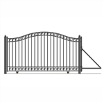 ALEKO® DUBLIN Style Single Slide Steel Driveway Gate 12'