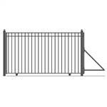 Single Slide Steel Driveway Gate - MADRID Style - 12 x 6 1/4 Feet