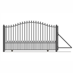 ALEKO Munich Style Single Slide Steel Driveway Gate 12