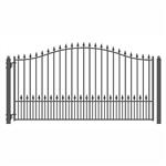 ALEKO® MUNICH Style Single Swing Steel Driveway Gate 12'
