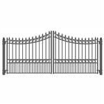 ALEKO® MOSCOW Style Swing Dual Steel Driveway Gates 14'