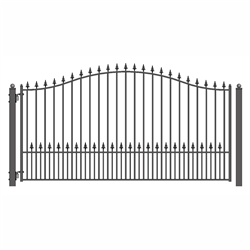 ALEKO® MUNICH Style Single Swing Steel Driveway Gate 14'