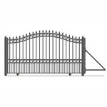 London Style Slide Steel Driveway Gate 16