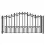 ALEKO LONDON Style Single Swing Steel Driveway Gate 16'